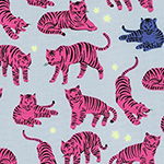 Wild and Free - Tigers in Hot Pink