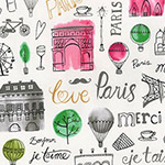 Paris Adventure - Landmarks and Text in Garden