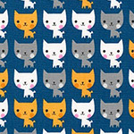 Suzy's Minis - Mini Kittens in Navy