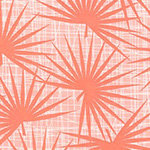 Palm Canyon - Palm Fronds in Coral