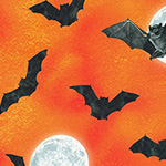 Raven Moon - Full Moon Bats in Pumpkin