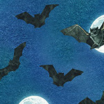 Raven Moon - Full Moon Bats in Spooky