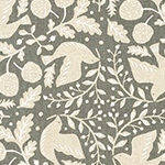 Cotton Flax Prints - Birds in Natural