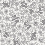 London Calling 6 - Drawn Flowers in Grey