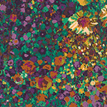 Painterly Petals - Floral Canvas in Harvest
