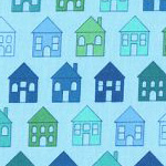 Quilters Basic Perfect - House Light Blue