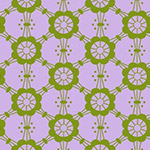 Mostly Manor - Mary in Olive on Lilac