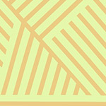 Mostly Manor - Manor Stripe in Gold on Citrus Metallic