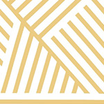 Mostly Manor - Manor Stripe in Gold on White Metallic