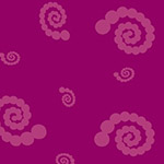 A Shout, A Whisper, A Text - Swirly Pearl Girl in Plum