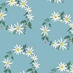 Daisy Chain - Flower Crown in Blue
