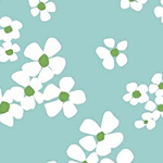 Daisy Chain - Bouquet in Aqua