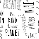 Love the Earth - Typography in White