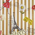 Live Life - Paris Travel on Tan Stripes